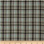 0264995 Crinkle Shirting Yarn Dyed Plaid Stone