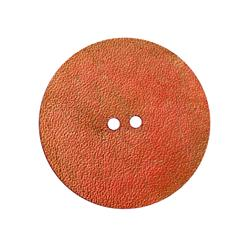 2'' Leather Button Round Pink
