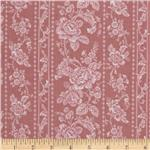 231531 Pristine Floral Stripes Antique Rose