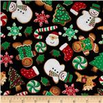 0283576 Timeless Treasures Holiday Treats Cookies Multi