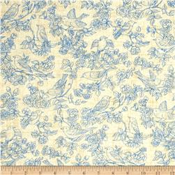 American Beauty Toile Tan/Blue