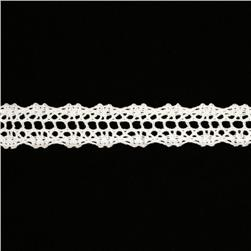 "5/8"" Crochet Lace Trim White"