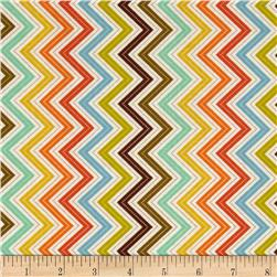 Moda Wrens & Friends Chevron Multi/Cream