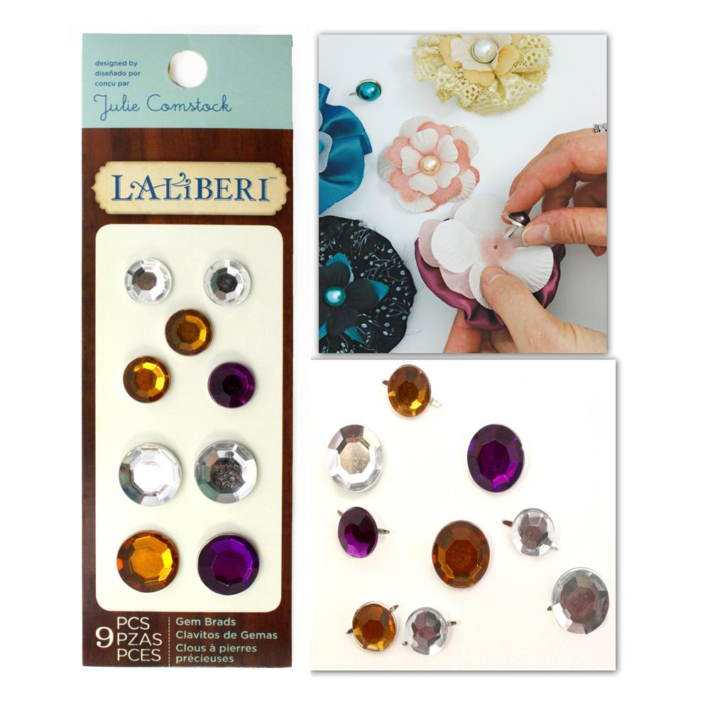 Laliberi Gemstone Brads Assorted Light