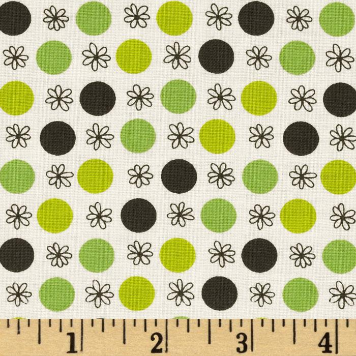 Flea Market Fancy Legacy Collection Flower &amp; Dot Green