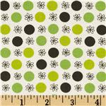 FG-048 Flea Market Fancy Legacy Collection Flower &amp; Dot Green