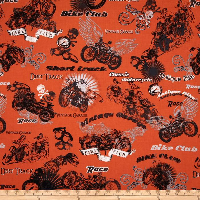 Retro Rider Motorcycles Orange