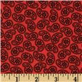 Road Well Traveled Tossed Paisley Red