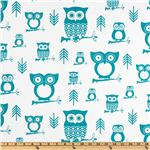 Premier Prints Hootie Owl True Turquoise