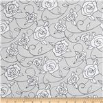 0289936 Genevieve's Garden Stipple Flower Black