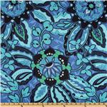 DQ-451 Amy Butler Soul Blossoms Laminated Trailing Orchid Blue