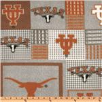 ET-312 Collegiate Fleece University Of Texas Plaid Blocks