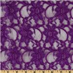 0267096 Xanna Floral Lace Fabric Purple