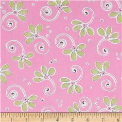 Susy Sunflower Signature Tossed Flower Pink