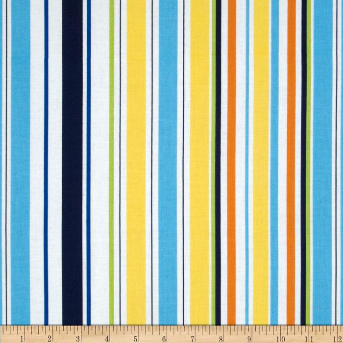 Michael Miller Poppy Love Seaside Stripe Blue
