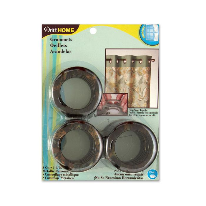 "Curtain Grommets 1 9/16"" Metallic Camo"