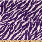  Stretch Ruffle Knit Zebra Purple