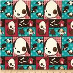 Naughty Puppies Flannel Pup Patchwork Red