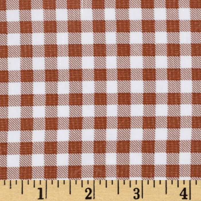 Oil Cloth Gingham Brown