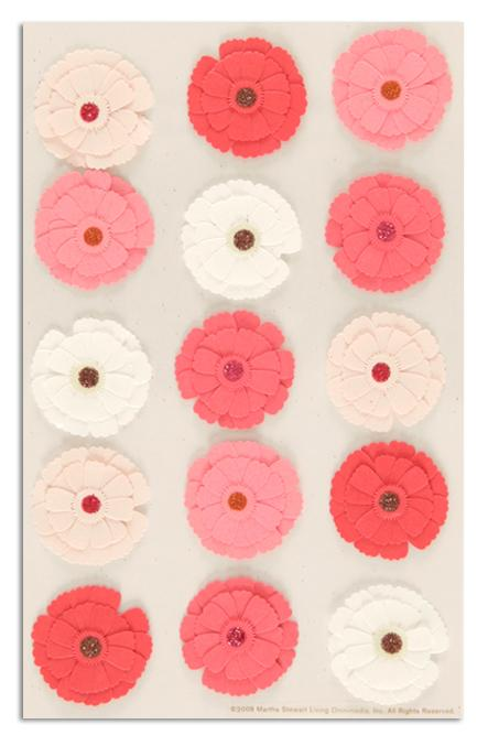 Martha Stewart Crafts Stickers Zinnia Pink/White