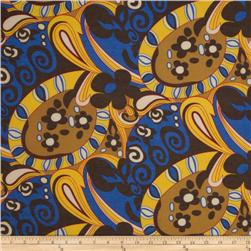 Maribel Voile Shapes Blue/Yellow