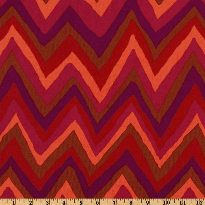 Jazz Corduroy Chevron Red