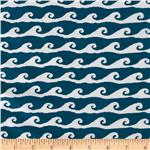 High Tide Waves Dark Blue