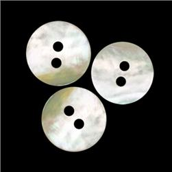Genuine Shell Button 5/8'' Agoya Lt. Grey Pearl