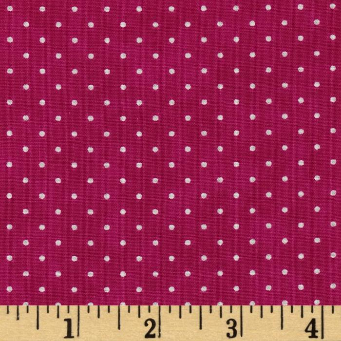 Moda Essential Dots (# 8654-31) Hot Pink