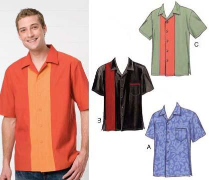 Kwik Sew Men&#39;s Novelty Short Sleeved Shirts Pattern