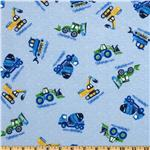 Comfy Flannel Construction Blue