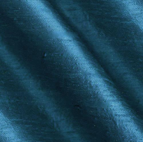 Dupioni Silk Fabric Iridescent Teal Blue