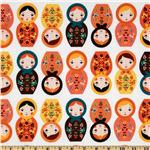 229517 Little Kukla Wooden Dolls Retro Orange