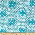 Geometric Crochet Lace Diamond Turquoise