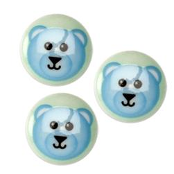 Novelty Button 3/4''Critter Bear Multi