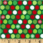 FM-257 O' Tinsel Tree Snowflake Dots  Holiday