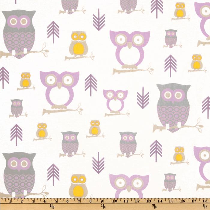 Premier Prints Twill Hooty Wisteria