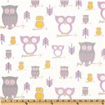 EG-989 Premier Prints Twill Hooty Wisteria