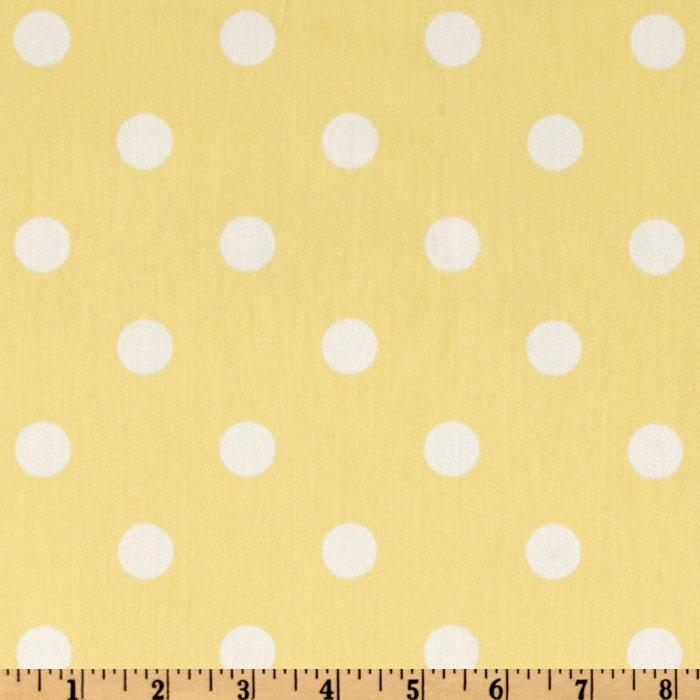 Premier Prints Twill Polka Dots Lucy Yellow/White