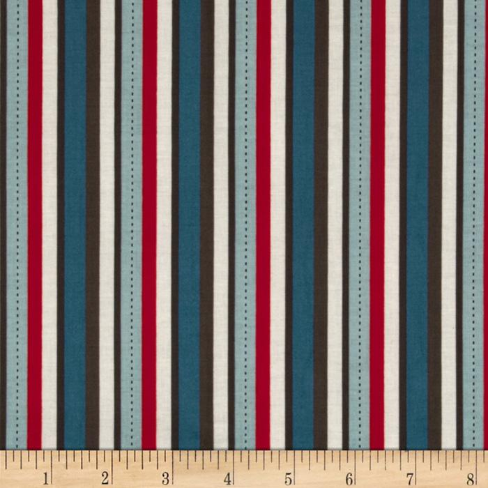 Riley Blake Pirate Matey&#39;s Pirate Stripes Red