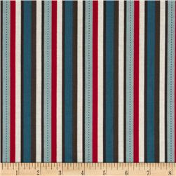 Riley Blake Pirate Matey's Pirate Stripes Red