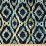 Indian Batik Ikat Navy
