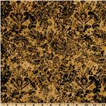 Tonga Batik Falling Leaves Paisley Gold