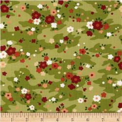 Moda Chirp Chirp Meadow Leaf Green