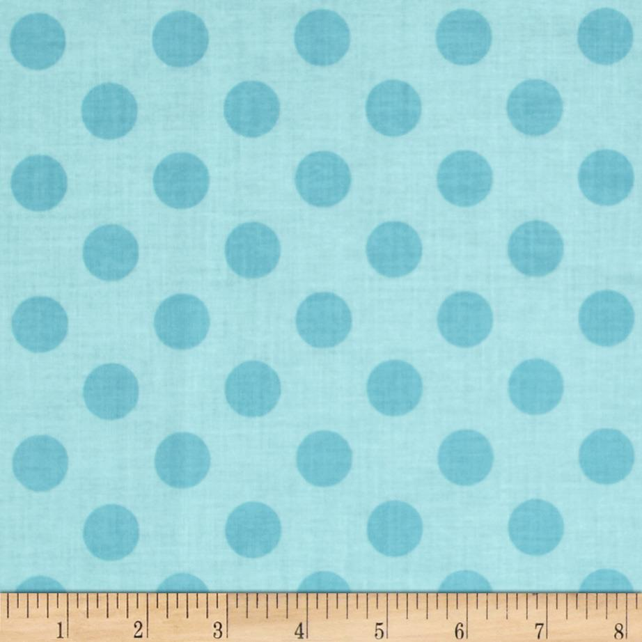 Riley Blake Medium Dots Tone on Tone Aqua