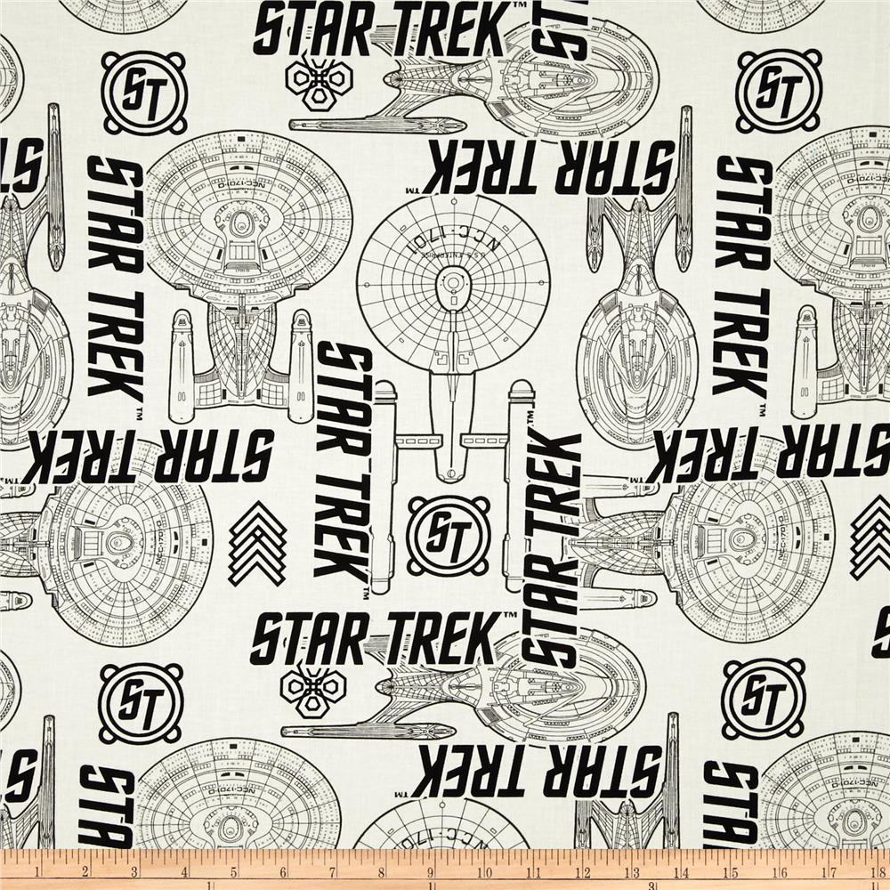 Star Trek Ship Specs White