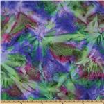 Indian Batik Lava Spray Tie-Dye Purple/Olive