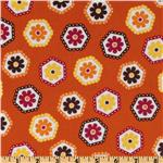 Stitch Organic Stitched Hexagons Garden Orange