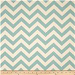 Premier Prints ZigZag Village Blue/Natural