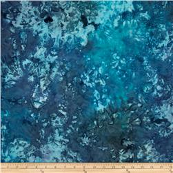 Indian Batik Hand-Dye Marble Blue/Turquoise